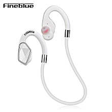 Fineblue MT - 2 Wireless Bluetooth Earphone Stereo Sports Earbuds Sweatproof with Mic - WHITE