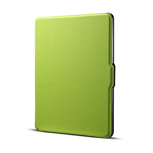 Cross texture Horizontal Flip Protective Case for Amazon Kindle Paperwhite  1 & 2 & 3 with Sleep / Wake-up Function (Grass Green)