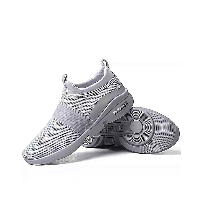 a69b74db7d8821 Breathable Running Shoes Sneakers Men and Women Breathable Casual Athletic  Trainers - grey
