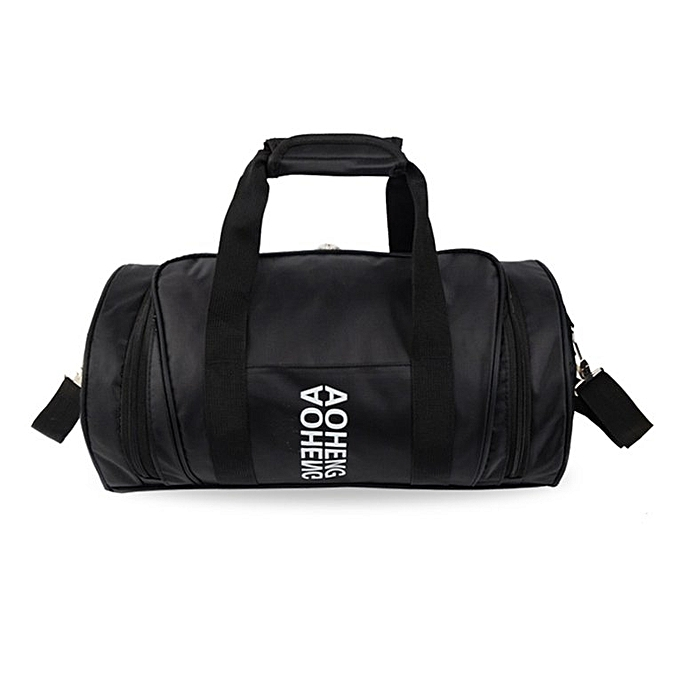 Outdoor Sports Bag Traveling Luggage Handbags Cylinder For Fitness Yoga Black