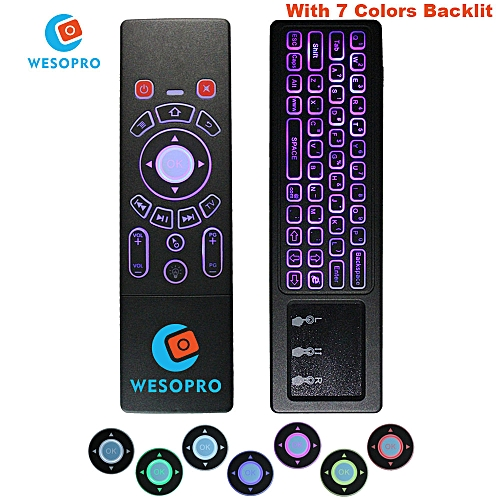 WESOPRO Latest T6 Air mouse with Keyboard & touchpad Remote Control for  Smart TV Android TV Box mini PC HTPC Projector WOEDB