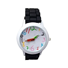 Fashion Quartz Unisex Boys And Girl's Beautiful Students All-Match Watch-Black