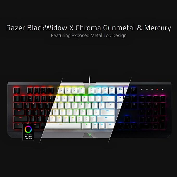 45b7f8d8a90 ... Razer BlackWidow X Chroma Gaming Keyboard Floating Mechanical Keyboard  RGB Backlight(White)