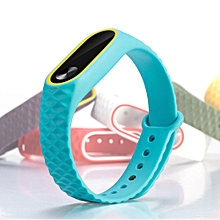 Replacement Silicone Watch Bracelet Band Wrist Strap For Xiaomi Mi Band 2-Sky Blue
