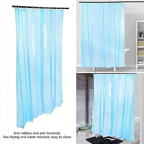 Generic 3D Water Cube Shower Curtain With Pockets Bathroom Waterproof PEVA Bath