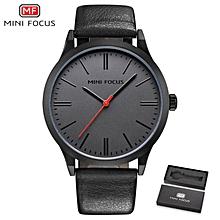 MINI FOCUS Top Luxury Brand Watch Famous Fashion Sports Cool Men Quartz Watches Waterproof Leather Wristwatch For Male MF0058G WWD