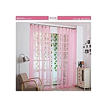 Pink Sheer Curtain -2 Pieces