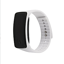 Super Lightweight LED Touch Sport Running Soft Silicone Smart Wristaband white