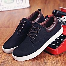 Unisex Sneakers Lace Up Breathable Stylish Classic Patchwork Durable Lacing Sneakers