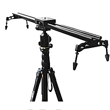 Commlite Portable 60cm 24 Inch Sliding-pad Video Track Slider Stabilizer System For DSLR Camera Black