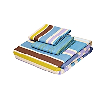 4Pc - Fitted Bed Sheet Set - 4 x 6 – Multicoloured