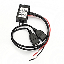 New Dual Double 2 USB DC-DC Car Converter Module 12V To 5V 3A 15W Power Adapter