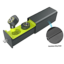 True Wireless Earbuds, Mini Twin Headphone Cordless Bluetooth Earphone Stereo Sound Sports Earpieces with Charging Case and Mic - Green