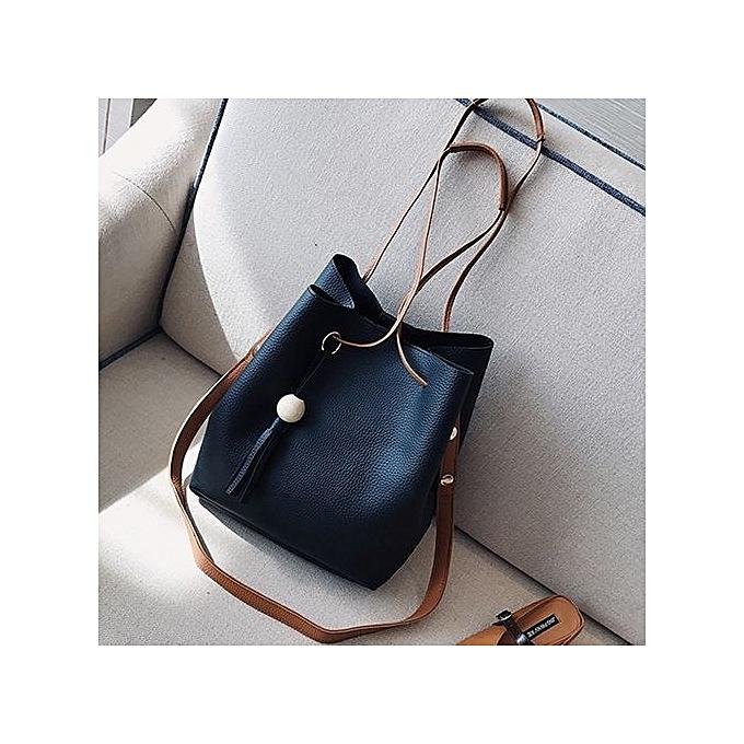 bluerdream-Women Four Sets Fashion Handbag Shoulder Bags Four Pieces Tote  Bag Crossbody BK- 5c53dc6c85722