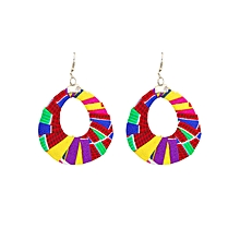 Red/ Yellow Oval(Wide) Earrings