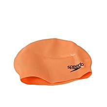 Swim Cap Moulded Silicone Snr- Orange-