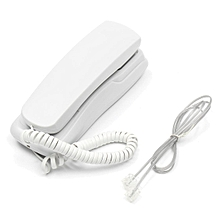Phone Corded Telephone Analog Desk Wall Mount(white)