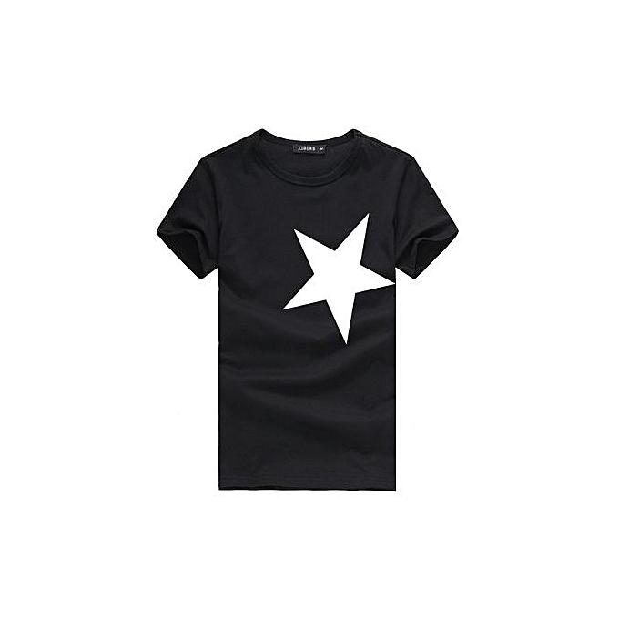 8e33d38e41d 5XL Men O-neck T shirt 2018 Summer fashion Printed pattern mens slim t  shirt Plus size casual cotton t shirt men for boy-black10