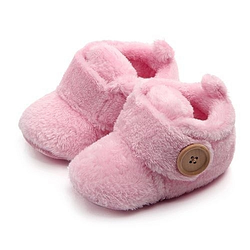 a9cf3a7e5ed8 YiQu bluerdream-Lovely Toddler First Walkers Baby Shoes Round Toe Flats  Soft Slippers Shoes - Pink