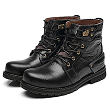 Fashion Men Hight Top Waterproof Classic 8 Metal Eyelets Crazy Work Ankle Boots