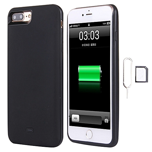 new arrival e4f62 0cbaa For Iphone 7 Plus 3 In 1 Dual Sim Adapter + 1800mah Power Bank + Ultra Thin  Backup External Case(black)