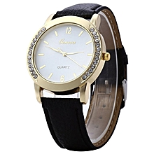 ZLF0364 Stylish Women Lady Watch Leather Strap Band Quartz Wrist Watch Fashion Black