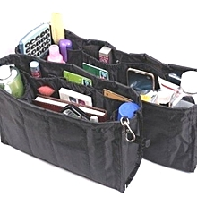 Black Purse Organizer Bag .