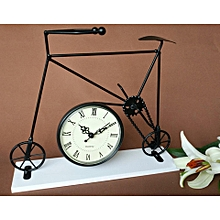 Creative Iron Craft 25cm Height Bicycle Home Decor Desk Cabine Clock Cute Gift