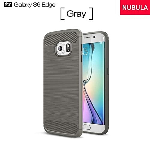 size 40 1b9b8 9286e High Quality Soft Rugged Armor Case For Samsung Galaxy S6 Edge Carbon Fiber  Brushed TPU Shockproof Case/Ultra-thin Full Protection Anti-Scratch Back ...