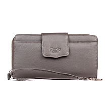Pure Leather Ladies purse- Grey