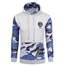 Men's Hot Sale  New Fashion Men's Slim Contrastcolor Camouflage Hoodies Sweatershirt01