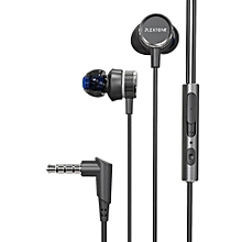 G15 game earphone noise reduction earphones Computer audio-video earphones -Black