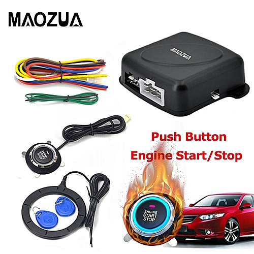 The Best Auto Car Alarm Engine Starline Push Button Start Stop Rfid Lock Ignition Switch Keyless Entry System Starter Anti-theft System 100% Guarantee Alarm Systems & Security Burglar Alarm