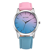 New Fashion Women Colorful Jelly Sports Quartz Leather Band Students Casual Wrist Watches