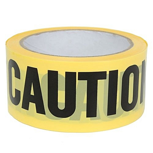 50mx5cm Roll Yellow Caution Tape Sticker Safety Barrier Police Construction  Area