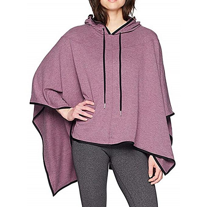 8ca9ecf78df Fashion Plus Size Women Casual Loose Asymmetric Hem Cloak Hoodies ...