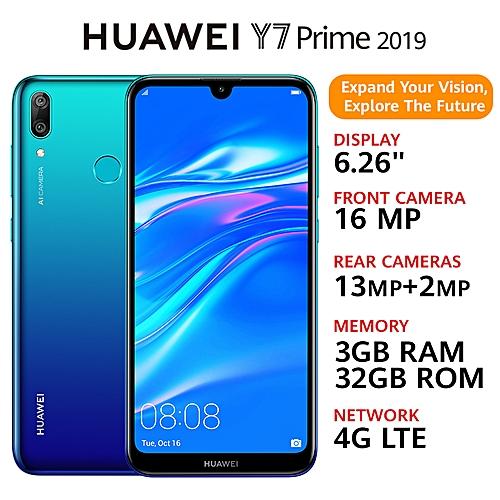 Buy Huawei Y7 Prime 2019 626 8mp16mp 32gb Rom 3gb Ram