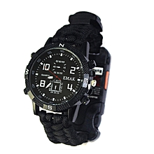 8 in 1 Military Paracord Survival Sport Swimming Wrist Watch Tactical Bracelet Outdoor