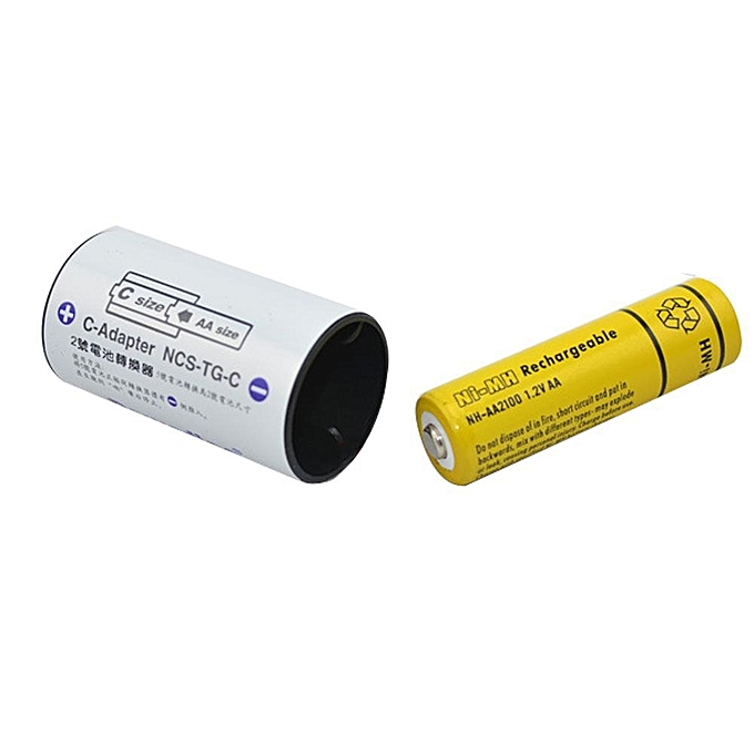 Practical Battery Adapters AA To Size D C