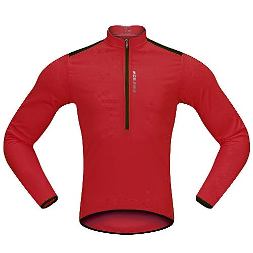 Generic Wosawe Men s Cycling Jersey Spring Autumn Half-zip MTB Bike Riding Long  Sleeve Shirt Clothing c9997118c