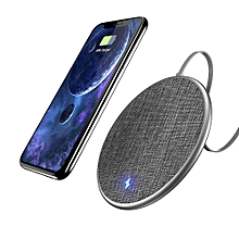 Wireless Charger, Fast Qi Wireless Charger For IPhone X 8 Plus Jean Fabric Wireless Charger Charging Pad For Samsung Galaxy Note 8 S8 Plus S7