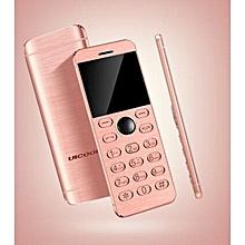 Mini Phone Metal Ultra thin Bluetooth 2.0 Dialer MP3 Dual SIM Card Mini Phone 1.54Inch Phone-pink
