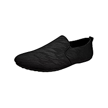 Men Slip-On Loafers Moccasin shoes Black