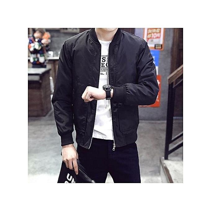 3a2e33e01 Black Big Size 4XL Mens Spring Autumn Jackets Casual Thin Male Windbreakers  College Bomber Hommes Varsity Jacket