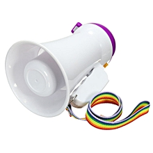 Portable Handheld Megaphone Foldable 5W Loud Speaker Bullhorn Voice Amplifier