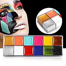 IMAGIC 12 Colors Face Body Flash Tattoo Oil Painting Pigment Makeup Tool #2