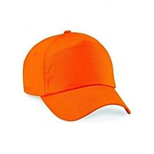 Orange Plain Baseball Hat