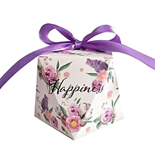25pcs Floral Candy Box Wedding Box Wedding Favors And Gifts Event Party Supply Wedding Decoration Small