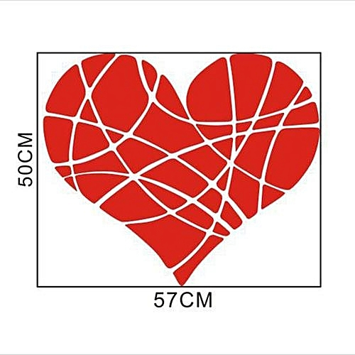 Buy Generic Valentines Day Love Geometry Window Wall Sticker Mural