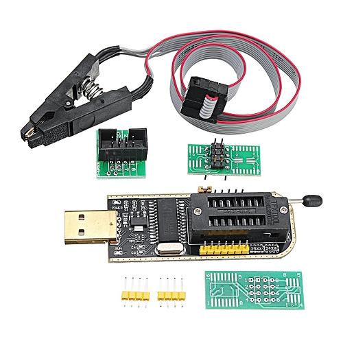 SOIC8 Clip On-Board + CH341A 24 25 Series EEPROM Flash BIOS USB Programmer
